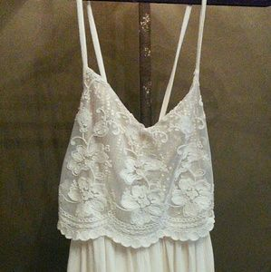 Hollister cream-colored GORGEOUS mini-dress